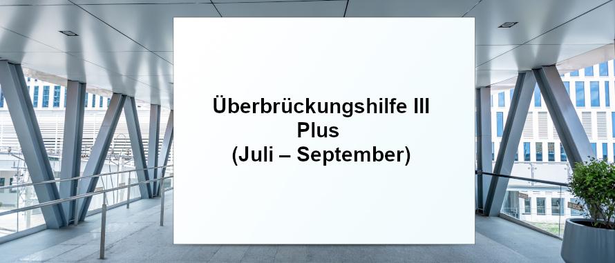 Überbrückungshilfe III Plus (Juli – September 2021) SHBB Basd Oldesloe