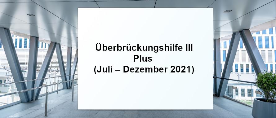 Überbrückungshilfe III Plus (Juli – Dezember 2021) SHBB Bad Oldesloe
